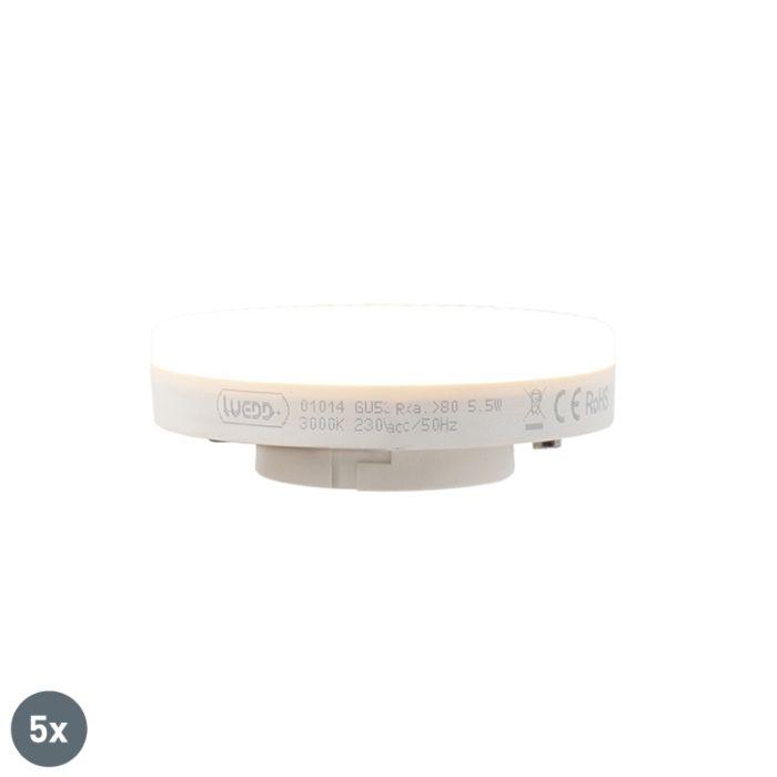 Komplet-od-5-LED-svjetiljki-GX53-5,5-W-470-lumena-3000K