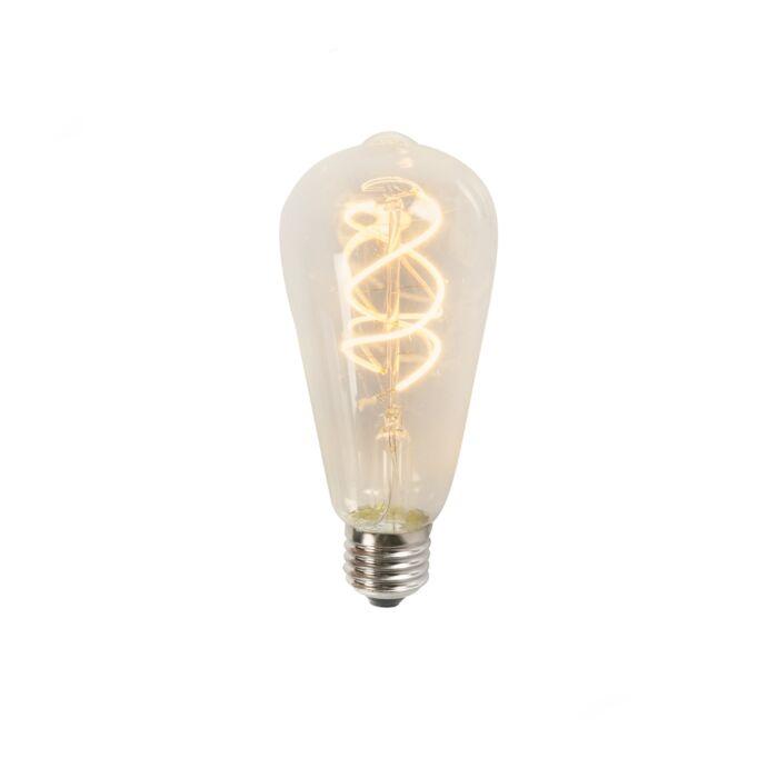 Uvijena-LED-nit-ST64-5W-2200K-prozirna