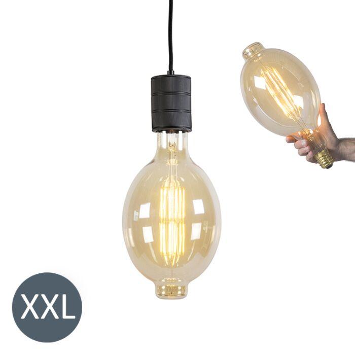 Viseća-svjetiljka-Koloseum-crna-s-LED-lampom-koja-se-može-zatamniti