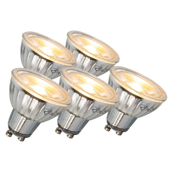 GU10-LED-svjetiljka-7W-500LM-3000K-prigušljiva-set-od-5-komada