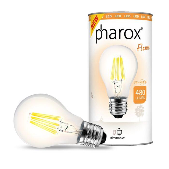 Pharox-LED-svjetiljka-Flame-E27-6W-480-lumena