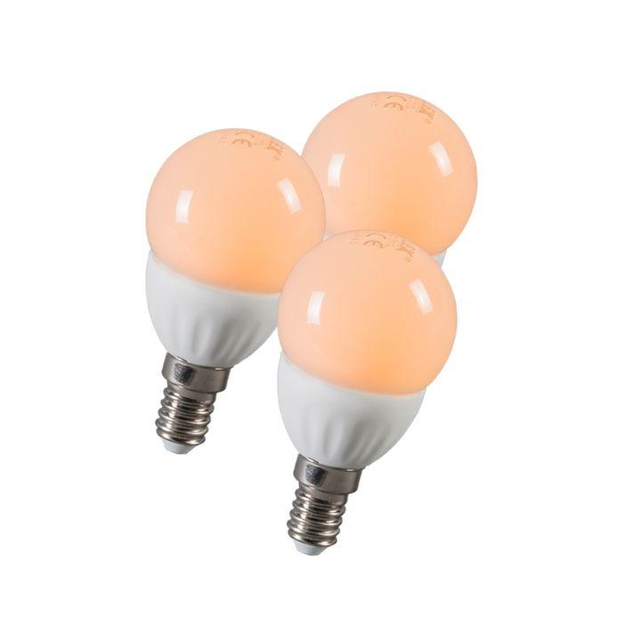 LED-kugla-E14-3W-250-lumena-približno-25W-set-od-3