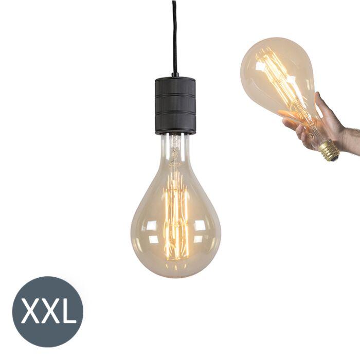 Viseća-svjetiljka-Splash-crna-s-prigušivom-LED-lampom