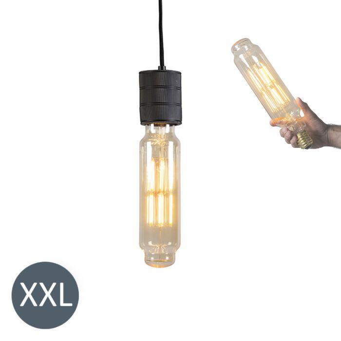Viseća-svjetiljka-Toranj-crna-s-LED-lampom-koja-se-može-zatamniti