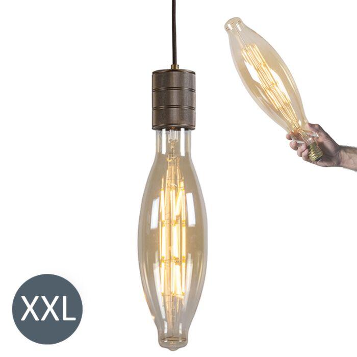 Viseća-svjetiljka-Elipsa-brončana-s-LED-lampom-koja-se-može-zatamniti