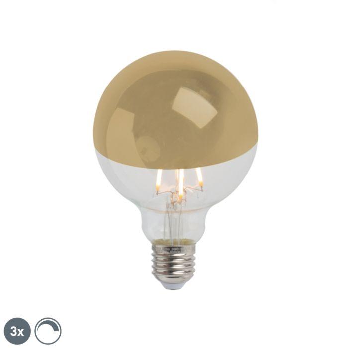 Set-od-3-E27-prigušljiva-LED-polu-ogledala-G95-zlato-280lm-2300K