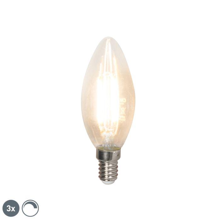Komplet-od-3-LED-žarulje-sa-žarnom-niti-E14-240V-3,5W-350lm-B35,-prigušiva