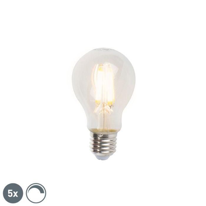 Komplet-od-5-LED-žarulja-sa-žarnom-niti-E27-A60-7W-806lm-2700K