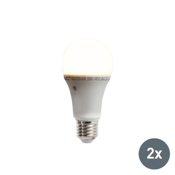 Komplet-od-2-LED-svjetiljke-s-ugrađenim-senzorom-za-svijetlo-tamu-E27-9W-806-lumena-toplo-bijela-2700K