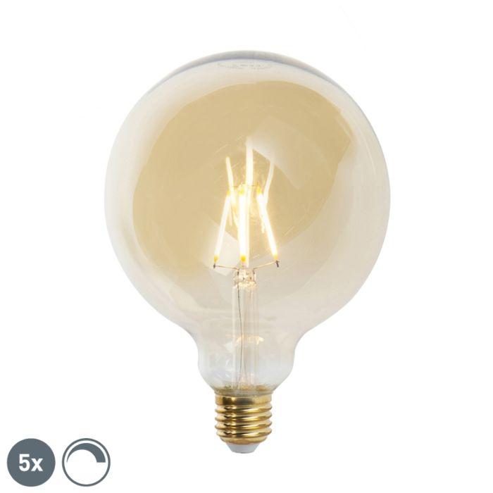 Komplet-od-5-LED-žarulja-sa-žarnom-niti-E27-G125-goldline-2200K