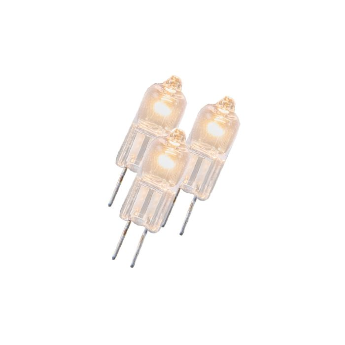 Komplet-od-3-halogene-žarulje-G4-5W-12V-prozirni