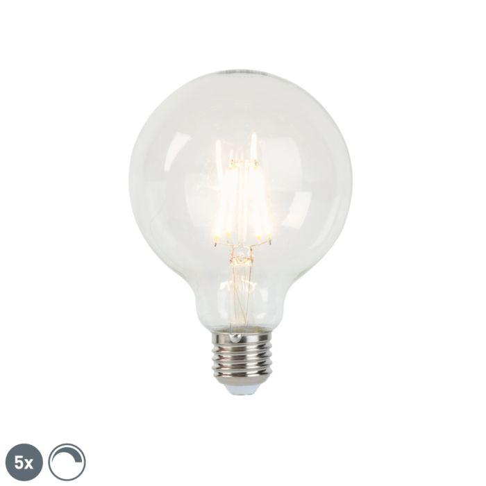 Komplet-od-5-E27-zatamnjenih-LED-žarulja-sa-žarnom-niti-G95-5W-470-lm-2700K