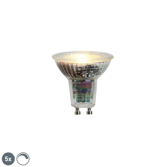 Komplet-od-5-GU10-LED-žarulja-6W-450lumena-2700K-prigušivo
