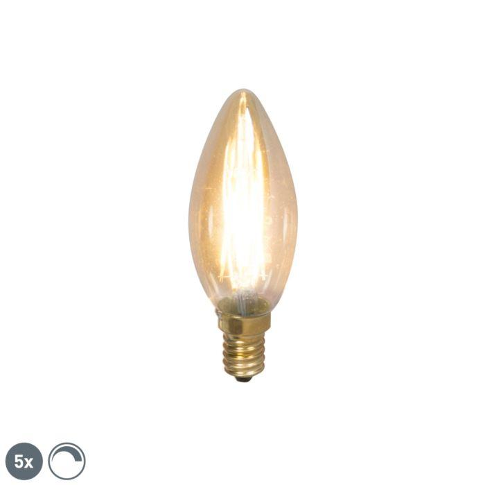 Komplet-od-5-svjetiljki-s-žarnom-niti-E14-s-mogućnošću-prigušivanja-200lm-2100-K.