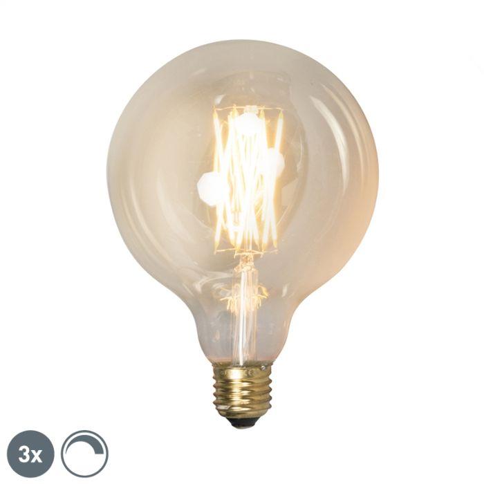 Komplet-od-3-LED-žarulje-s-prigušivanjem-E27-G125-goldline-320lm-2100-K.