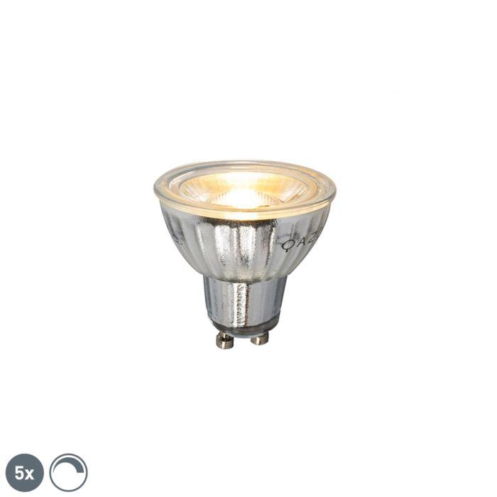 Set-od-5-GU10-zatamnjivih-LED-svjetiljki-7W-500LM-2700K