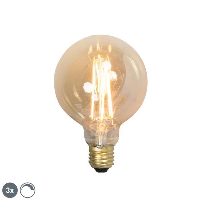 Komplet-od-3-LED-žarulje-sa-žarnom-niti-E27-G95-goldline-2100K