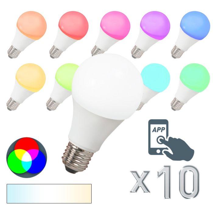 Set-od-10-LED-svjetiljki-E27-240V-7W-500lm-A60-Smart-Light
