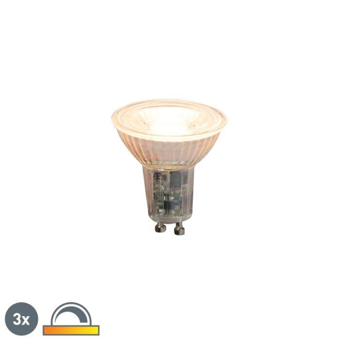Komplet-od-3-GU10-zatamnjive-LED-svjetiljke-5,5-W-360lm-2000K---2700K