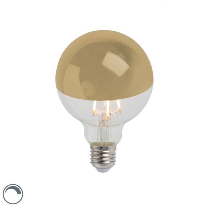 LED-ogledalo-sa-žarnom-niti-žarulja-zlatno-E27-240V-4W-280lm-2300K-G95-zatamnjivo