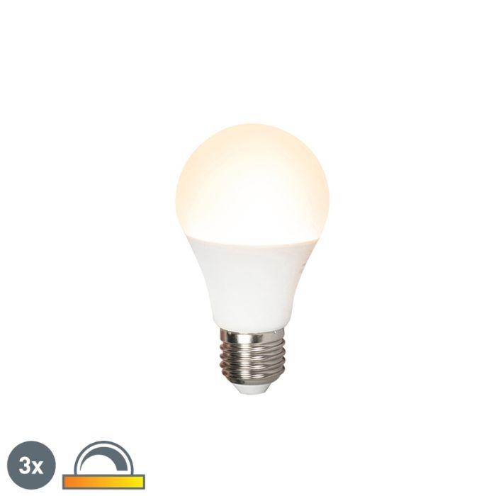 Komplet-od-3-LED-svjetiljke-E27-240V-7W-510lm-A60-prigušivo