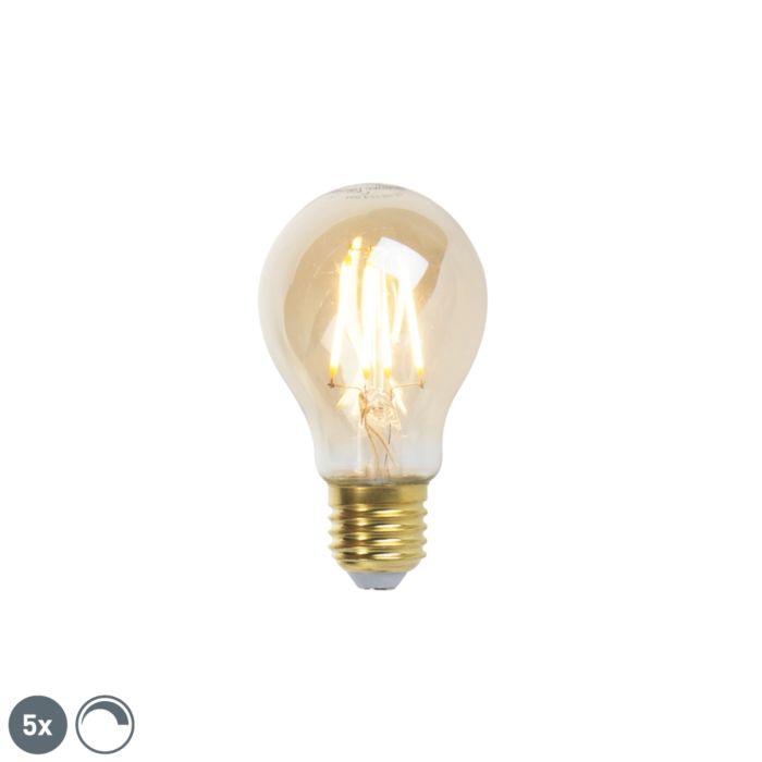 Komplet-od-5-LED-žarulja-sa-žarnom-niti-E27-goldline-360lm-2200K