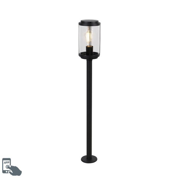 Pametna-dizajnerska-vanjska-svjetiljka-crna-100-cm-IP44,-uključujući-Wifi-ST64---Schiedam