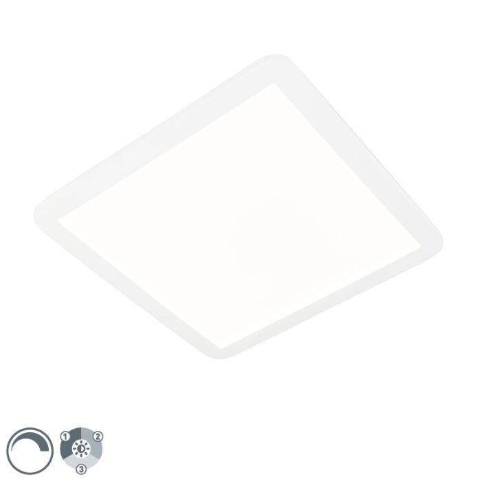 Stropna-svjetiljka-bijela-40-cm,-uključujući-LED-trokraku-zatamnjivu-IP44---Steve