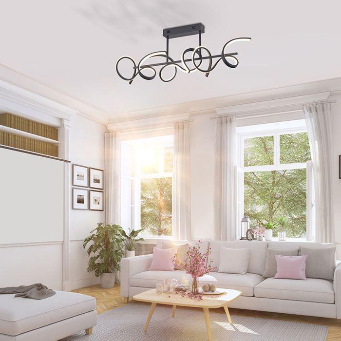Dizajn-stropne-svjetiljke-crne-boje-sa-LED-i-prigušivačem---Krisscross