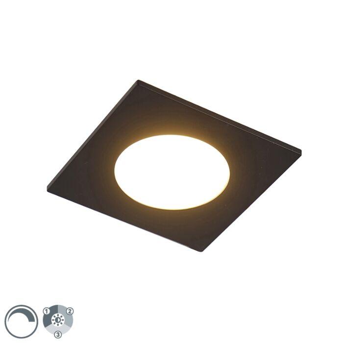 Moderna-ugradbena-spot-crna-sa-LED-svjetlom-u-tri-koraka,-zatamnjiva-IP65---jednostavno
