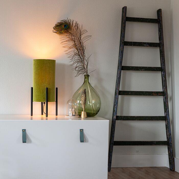 Dizajn-stolna-svjetiljka-crni-baršun-sjena-zelena-sa-zlatom---Rich