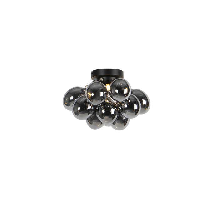 Dizajn-stropne-svjetiljke-crne-boje-s-dimnim-staklom-3-svjetla---Uvas