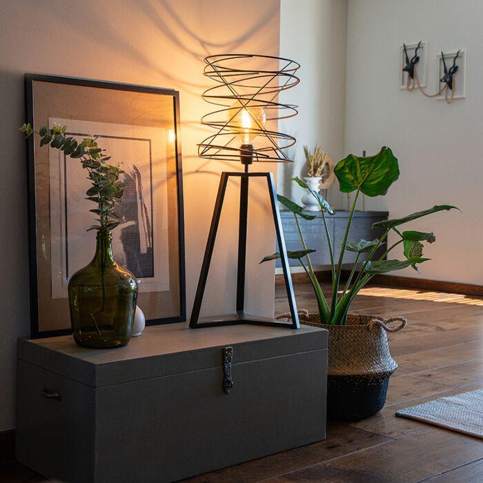 Dizajn-stolna-svjetiljka-crna---Spira