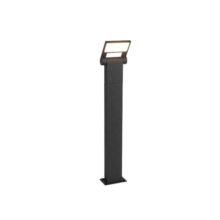 Moderni-vanjski-stup-sive-boje,-uključujući-LED-IP54---Zane