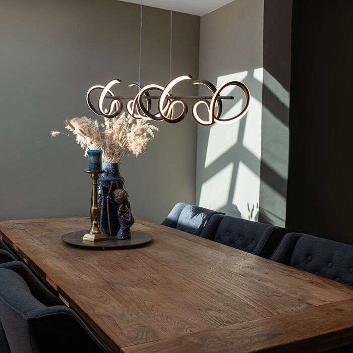 Dizajn-viseća-svjetiljka-crna-s-LED-i-prigušivačem---Krisscross