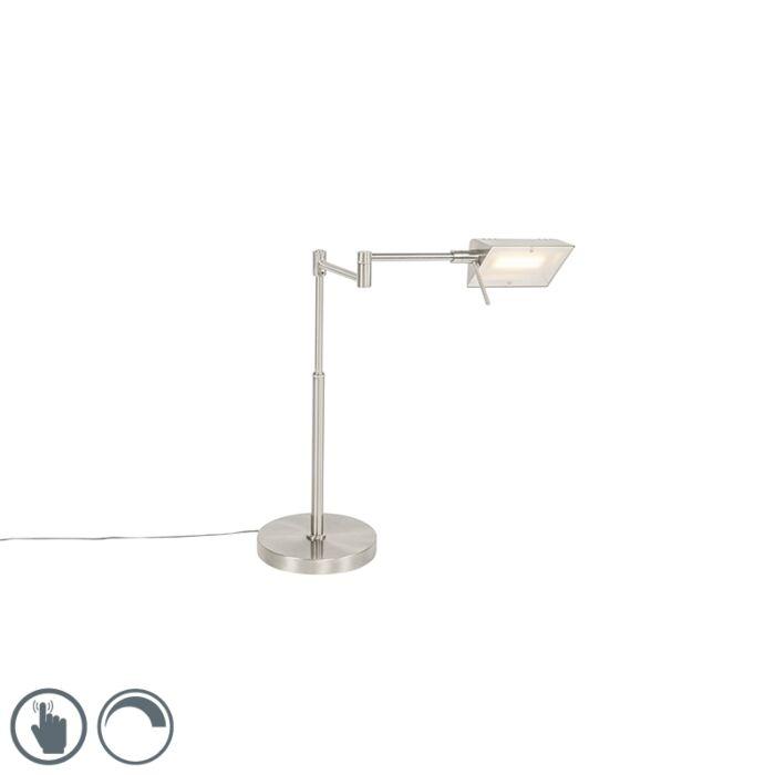Dizajn-stolne-svjetiljke-od-čelika,-uključujući-LED-s-prigušivačem-na-dodir---Notia