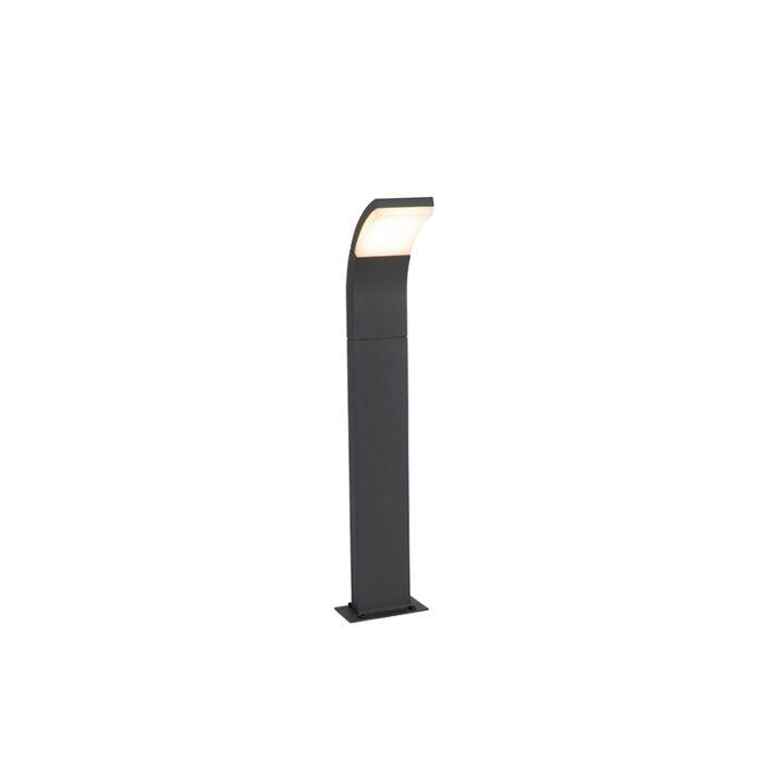 Moderni-vanjski-stup-sive-boje,-uključujući-LED-IP54---Litt