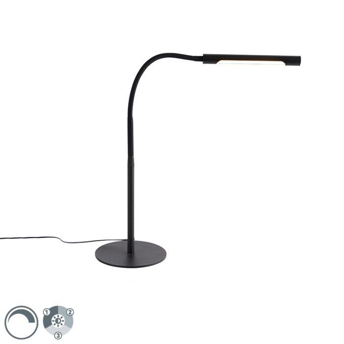 Dizajn-stolna-svjetiljka-crna-s-LED-diodom-s-dimerom---Palka