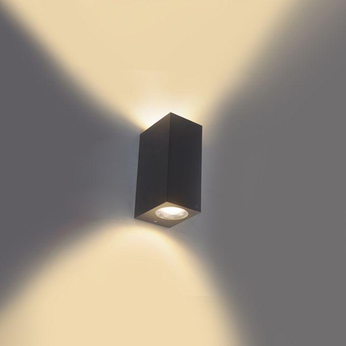 Moderna-zidna-svjetiljka-siva-IP44---Baleno-II