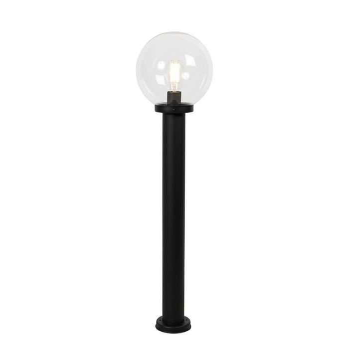 Vanjska-svjetiljka-crna-s-prozirnim-staklom-IP44-100-cm---Sfera