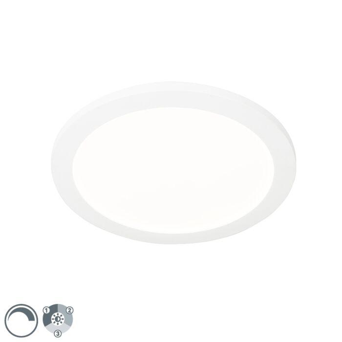 Stropna-svjetiljka-bijela-30-cm,-uključujući-LED-trokraku-zatamnjivu-IP44---Steve