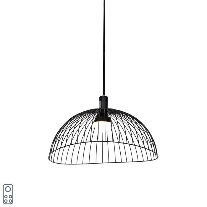 Vanjska-stropna-svjetiljka-crna-IP44-sa-LED-punjivom-baterijom-RGBW---Pua
