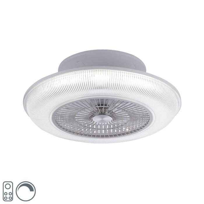 Dizajn-stropni-ventilator-sive-boje,-uključujući-LED-RGB-2700---5000K---Raki