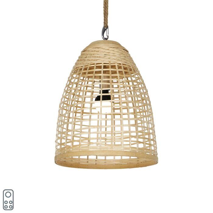 Vanjska-viseća-svjetiljka-od-ratana-IP44-sa-LED-punjivim-LED--om-RGBW---Maurice