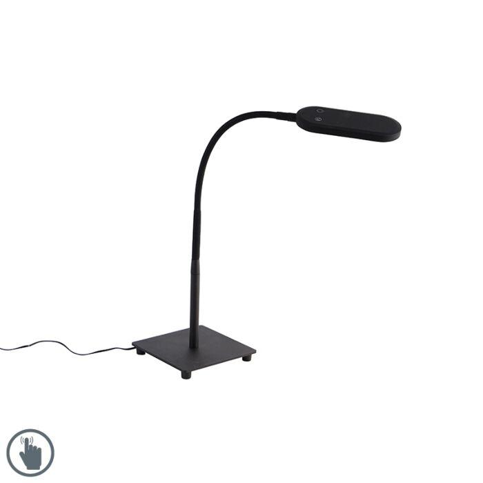 Moderna-stolna-svjetiljka-crna-s-LED-diodom-u-4-koraka---Botot