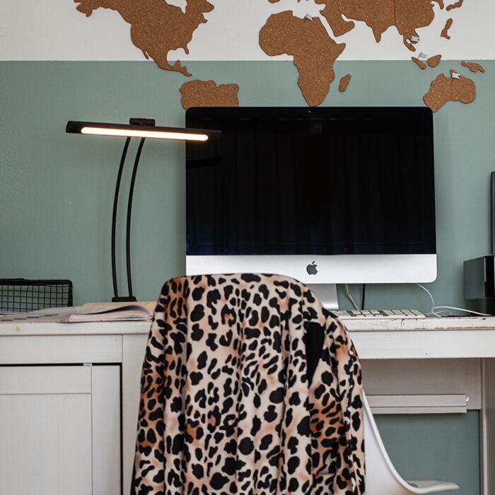 Dizajn-stolna-svjetiljka-crna,-uključujući-LED-s-prigušivačem---Tableau