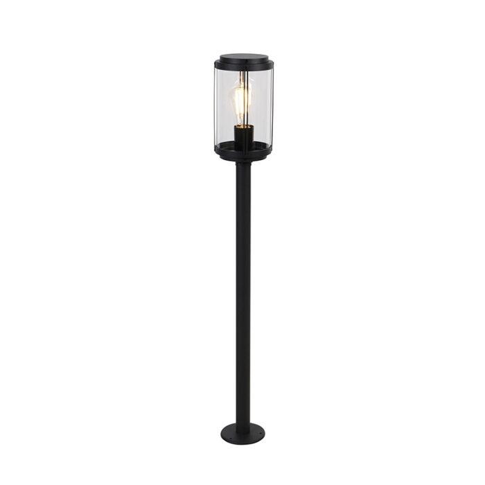 Dizajn-stojeća-vanjska-svjetiljka-crna-100-cm-IP44---Schiedam