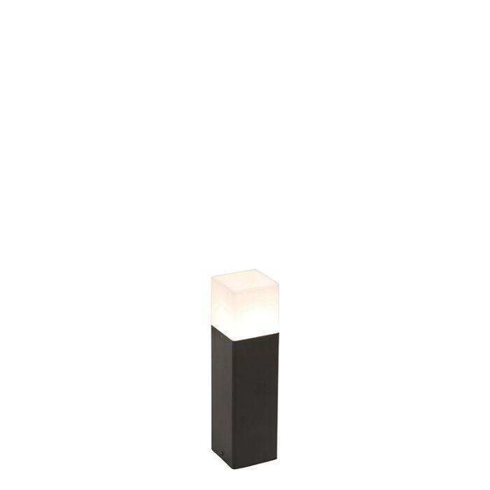 Stojeća-vanjska-svjetiljka-crna-s-opalovom-bijelom-hladom-30-cm---Danska