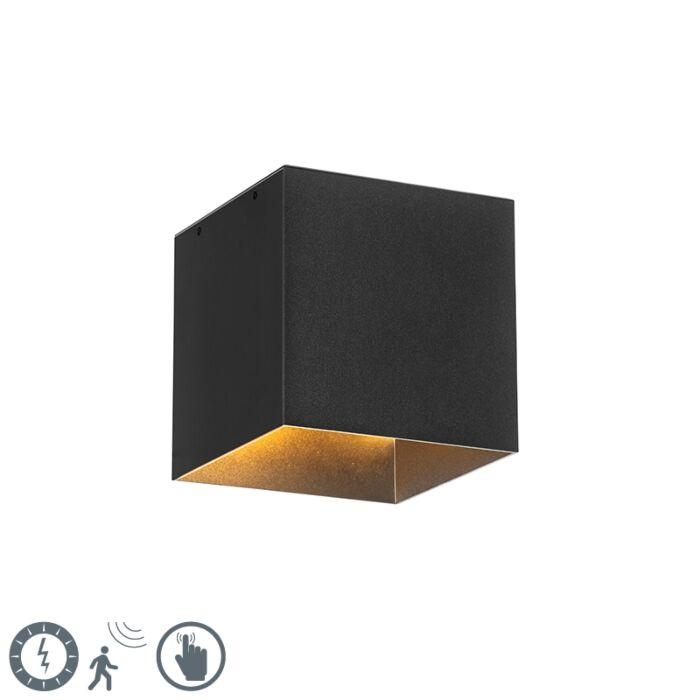 Moderna-vanjska-zidna-svjetiljka-crna-IP65-sa-LED-solarnom-energijom---Charlotte