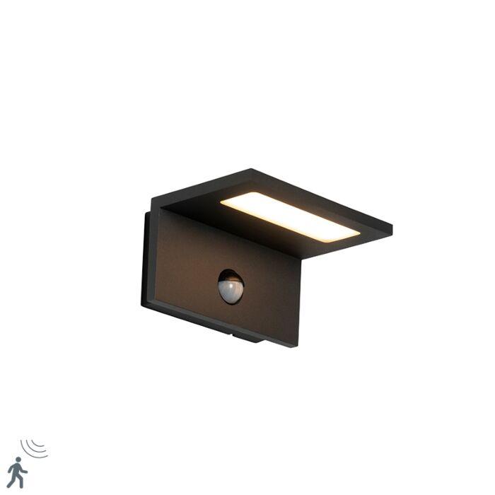 Vanjska-zidna-svjetiljka-siva-s-LED-senzorom-kretanja-IP54---Harvey